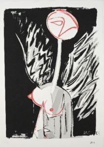 L'ange de rimbaud Sérigraphie Jacques Grinberg
